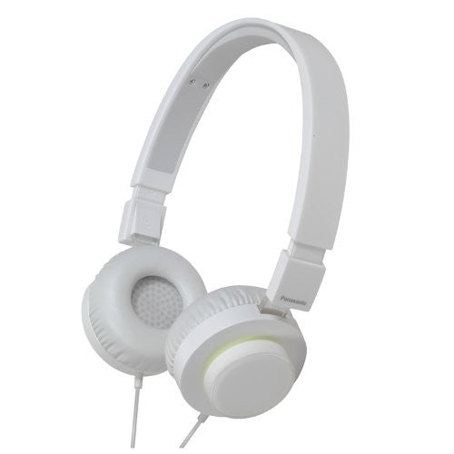 Panasonic RP-HXD5C-W High Quality On-Ear Monitor Headphones (White) with full Apple Device controller