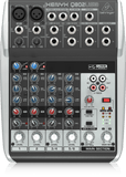 Behringer Q802USB (Q802 USB) Premium 8-Input 2-Bus Mixer with XENYX Mic Preamps & Compressors, British EQs and USB/Audio Interface(Ships next day)  (C-Plan Audio Specials) - C-Plan Audio