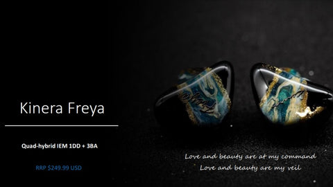 Kinera Freya (New Release) - Quad Hybrid - Audiophile In-Ear Headphone with 4 Drivers - 3BA + 1DD Hybrid Driver (Ships Next Day) - C-Plan Audio