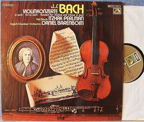 Perlman+Barenboim - Bach (Violin concertos) - Opened Vinyl LP - Near Mint Condition - CPlan Audio