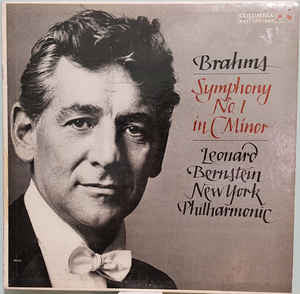 Brahms* - Leonard Bernstein, New York Philharmonic* ‎– Symphony No. 1 In C Minor   - Vinyl LP - Opened  - Very-Good+ Quality (VG+)