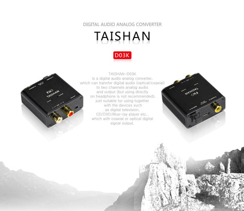 FiiO D3 (D03K) Taishan - Digital to Analog Audio Converter - 192kHz/24bit Optical and Coaxial DAC  (Ships Next Day) (C-Plan Audio Specials)