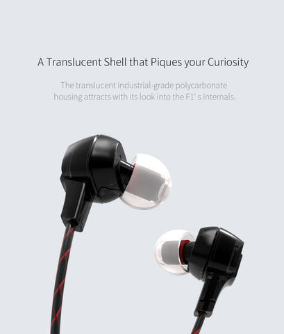 FiiO F1 Dynamic In-Ear Headphone Monitors with Mic (Ships in 2-3 weeks)