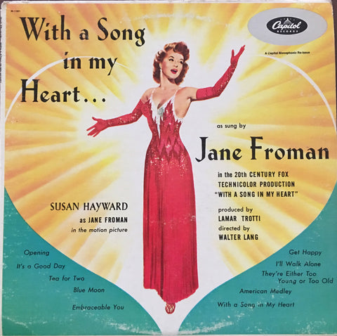 Jane Froman - With a Song in my Heart - Vinyl LP Record - Opened  - Very-Good Quality (VG)