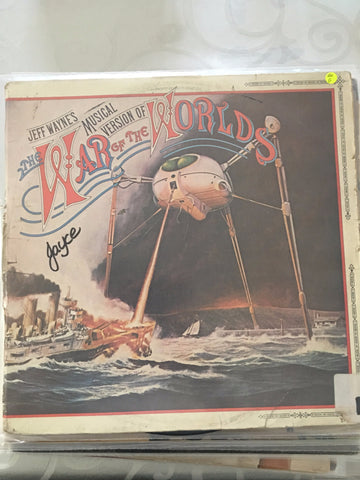 Jeff Wayne ‎– The War Of The Worlds - Vinyl LP - Opened  - Good Quality (G)