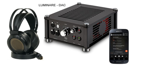 Audiovalve Luminare Electrostatic + Dynamic Combined HiFi Headphone Amplifier DAC Edition (Ships in 4 Weeks)