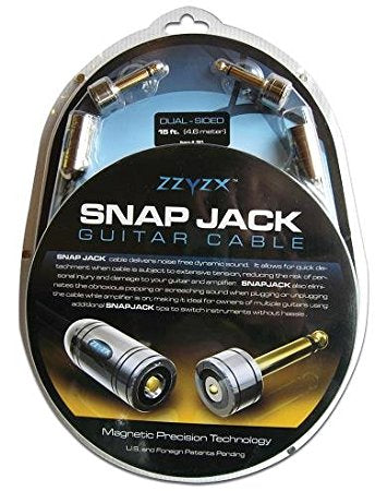 ZZYZX Snap Jack Guitar Cable - 4.6m - Straight Connector