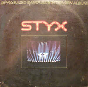 Styx ‎– Radio Sampler & Interview Album - Double Vinyl LP - Opened  - Very-Good+ Quality (VG+) - C-Plan Audio