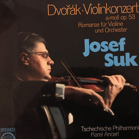 Antonín Dvořák - Josef Suk ‧ Czech Philharmonic Orchestra* ‧ Karel Ančerl ‎– Violin Concerto ‧ Romance For Violin - Opened Vinyl LP - Near Mint Condition - CPlan Audio