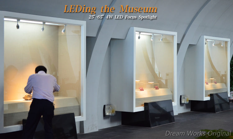LEDing the museum 4W,25-65°LED focus spotlight