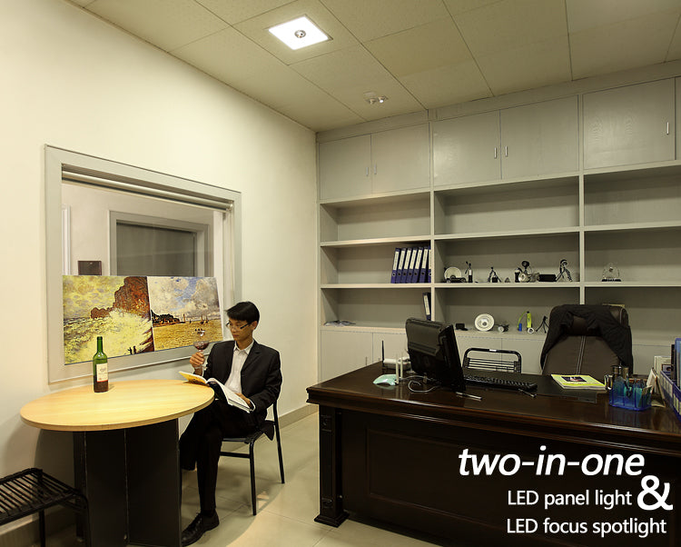 two-in-one,led panel light and led focus spotlight