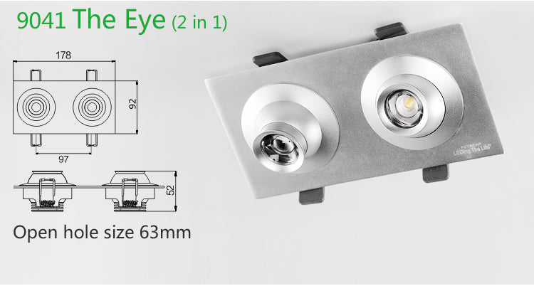 9041 the eye LED focus lighting 2 in 1