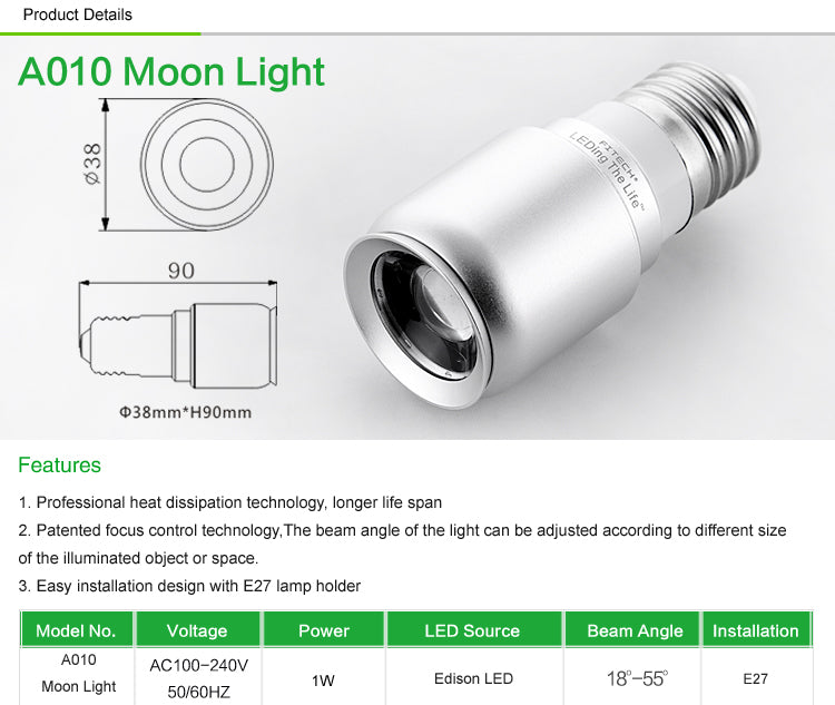 a010 moon light features
