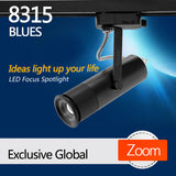 8315 Blue LED focus track spotlight for  Studio Office and leisure area lighting