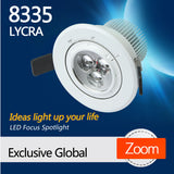 8335 LYCRA Dimmable LED focus lighting