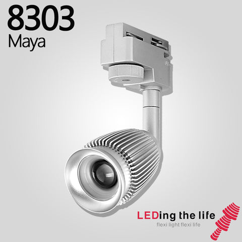 8303 Maya LED focus track light for art gallery lighting