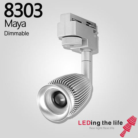 8303 Maya Dimmable LED focus track light for art gallery lighting
