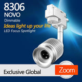 8306 Novo Dimmable LED focus track spotlight for museum lighting