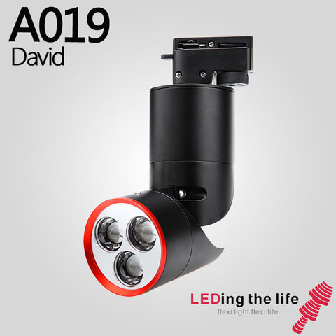 A019 David LED track focus spotlight for Clothing store lighting
