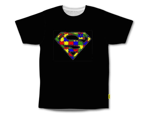 PVCH - Autism Super Hero Adults Tee Black Pre Order