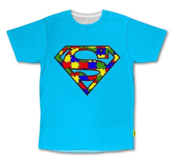 PVCH - Autism Super Hero Adults Tee Light Blue Pre Order