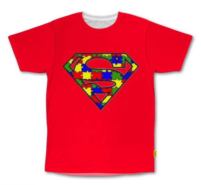 PVCH - Autism Superhero Kid's Tee Red Pre Order