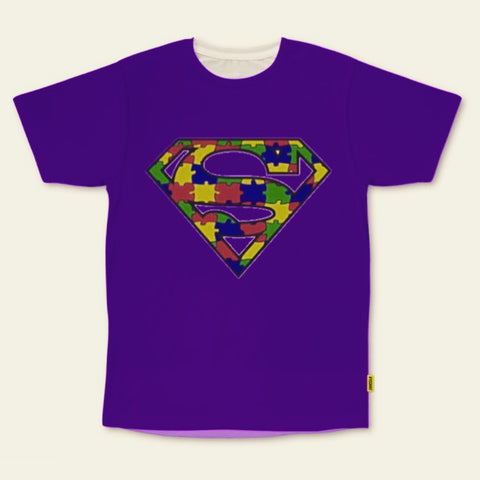 PVCH - Autism Superhero Kid's Tee Purple Pre Order