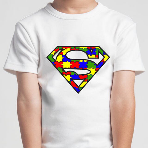 PVCH - Autism Super Hero Adults Tee White Pre Order