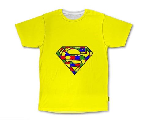 PVCH - Autism Super Hero Adults Tee Yellow Pre Order