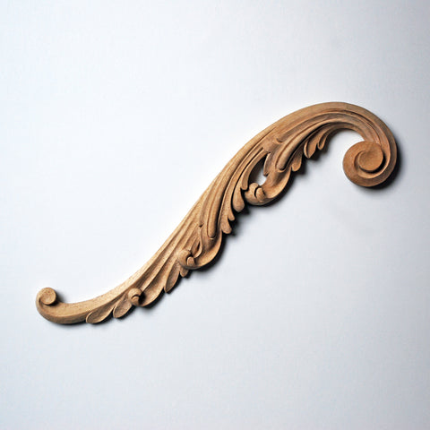 Acanthus-Leaf Pediment Scroll Appliqué