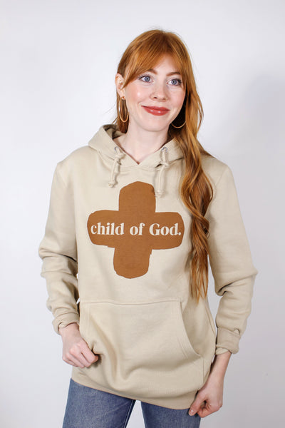 Child Of God Natural Hoodie