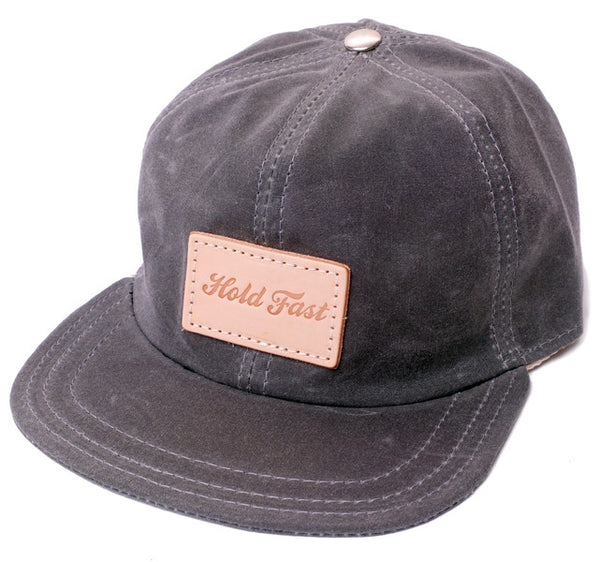 Hold Fast™ 6-Panel Waxed Canvas Hat w Leather Label