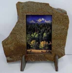 "6""X9"" Portrait Solid Stone Frame"