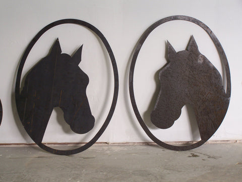 Horse Head Metal Wall Art