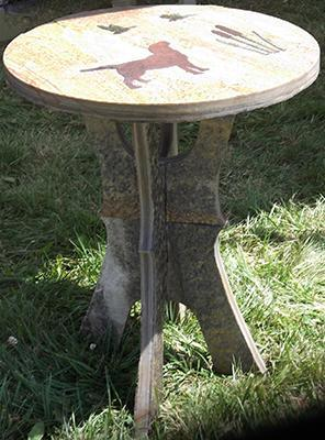 Stone Table with Stone Inlay
