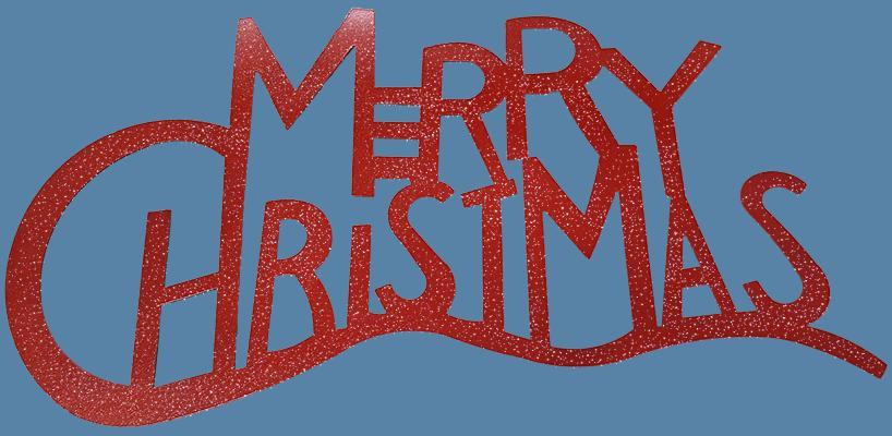 Merry Christmas Metal Art