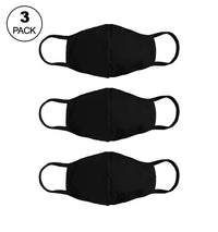 Pack Of Three Masks: Solid Black