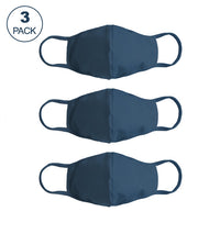 Pack Of Three Masks: Solid Petrol Blue