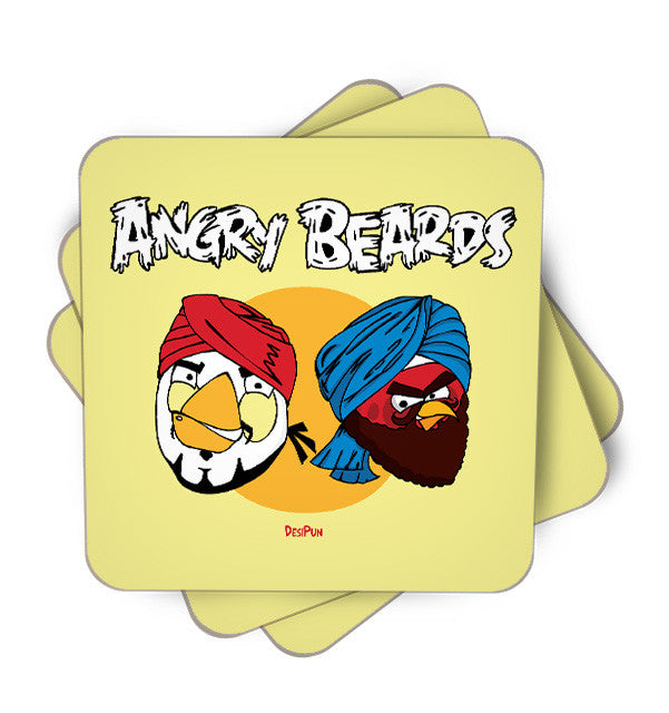 Angry Beards Single Piece, Coasters - ultykhopdi - Design By Desi Pun, ultykhopdi.com