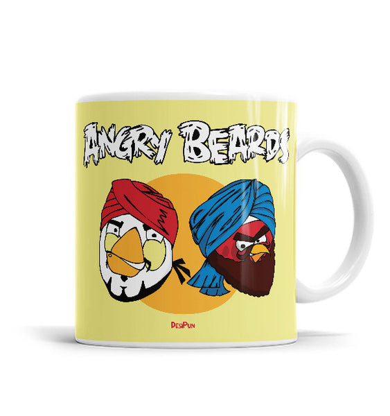 Angry Beards 11 OZ Ceramic Mug, Mugs - ultykhopdi - Design By Desi Pun, ultykhopdi.com