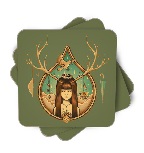 Autumn Delight Single Piece, Coasters - ultykhopdi - Design By Enkel Dika, ultykhopdi.com
