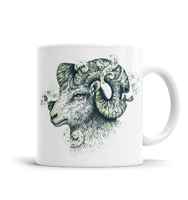 Big Horn 11 OZ Ceramic Mug, Mugs - ultykhopdi - Design By Enkel Dika, ultykhopdi.com