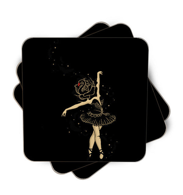 Black Swan Single Piece, Coasters - ultykhopdi - Design By Enkel Dika, ultykhopdi.com