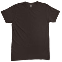 Solid Coffee Brown Half Sleeve T-shirt