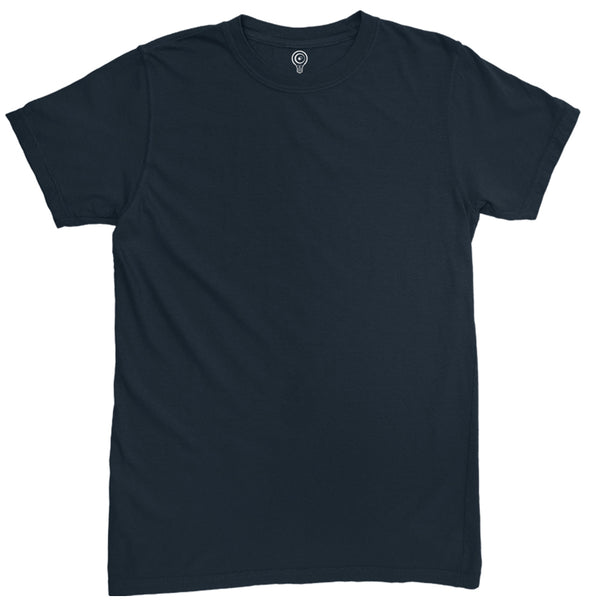 Solid Navy Blue Half Sleeve T-shirt