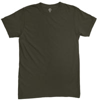 Solid Olive Green Half Sleeve T-shirt