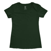 Solid Dark Green Half Sleeve T-shirt