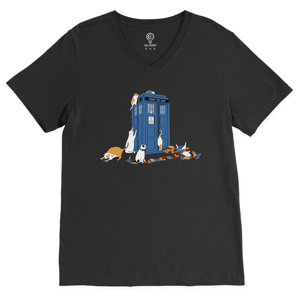Time Travelers V-Neck