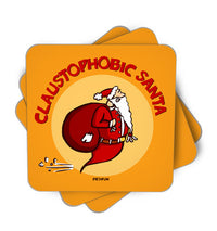 Claustophobic Santa Single Piece, Coasters - ultykhopdi - Design By Desi Pun, ultykhopdi.com