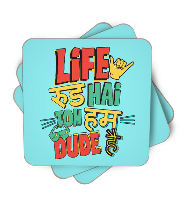 Dekh Bhai Single Piece, Coasters - ultykhopdi - Design By Vectorik, ultykhopdi.com